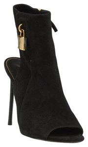 Tom Ford Suede Lock Black Boots