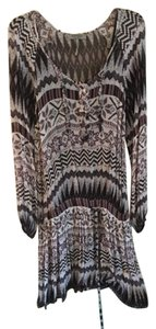 Buffalo David Bitton short dress Multi Tribal Printed Sheer Overlay on Tradesy