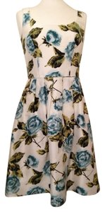 Ann Taylor Silk Fit And Flare Preppy Dress