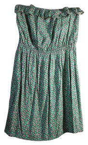 Alya short dress green and multi Tube Top Strapless on Tradesy