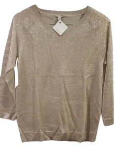 Halogen Metallic Sheer Sweater