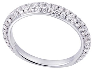 Avi and Co 0.75 cttw Round Brilliant Cut Diamond Pave Wedding Band 18K White Gold