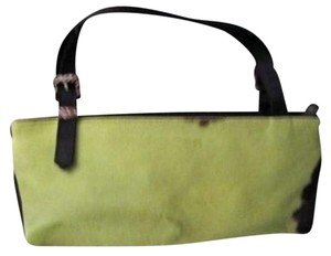 Adrienne Vittadini Bright Fur Satchel in Green & Black