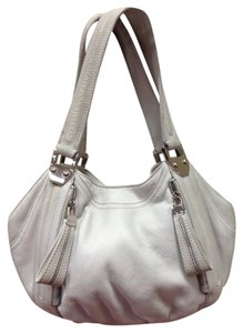 B. Makowsky Leather Pebbled Edgy Hobo Bag