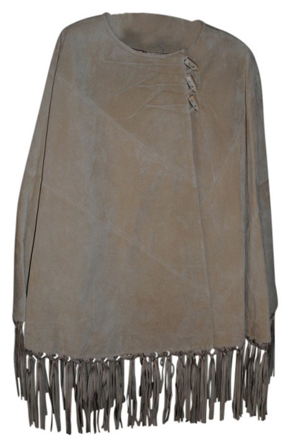 Preload https://img-static.tradesy.com/item/15316/terry-lewis-classic-luxuries-tan-leather-suede-ponchocape-size-os-one-size-0-0-650-650.jpg