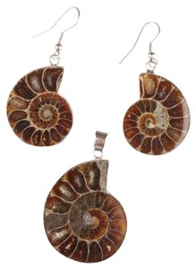 Other Stunning Shell Fossil Earrings and Pendant