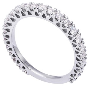 Avi and Co 0.90 cttw Round Brilliant Cut Diamond Semi-Eternity Wedding Band 18K White Gold