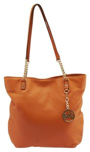 Michael Kors Leather Tote in Orange