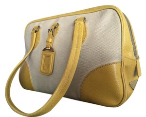 Prada Summer Tote in Yellow and Beige