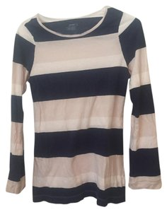 Old Navy Striped T Shirt Navy/White/Light Grey