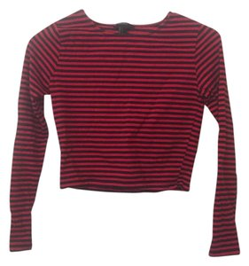 Forever 21 Crop Top Navy/Red