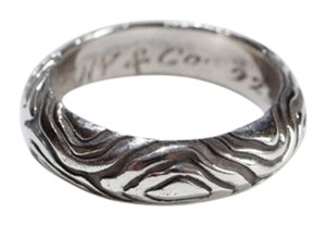 Tiffany & Co. Tiffany & Co. Sterling Silver Wood Grain Ring
