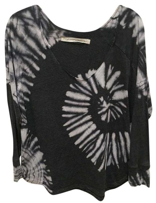 Item - Dark Grey and White Blouse Size 8 (M)