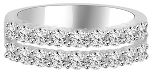 Avi and Co 1.33 cttw Round Brilliant Cut Diamond Double Row Wedding Band 18K White Gold