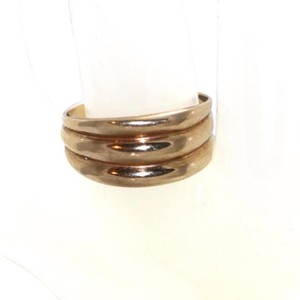 Other 10K YELLOW GOLD THREE RIBBED BAND STYLE RING, SIZE 8.25- PRELOVED