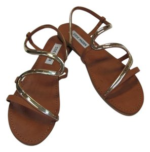 Steve Madden New Size 10.00 M Excellent Condition Neutral, Gold Sandals