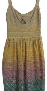 M Missoni short dress Gold/ multi color on Tradesy