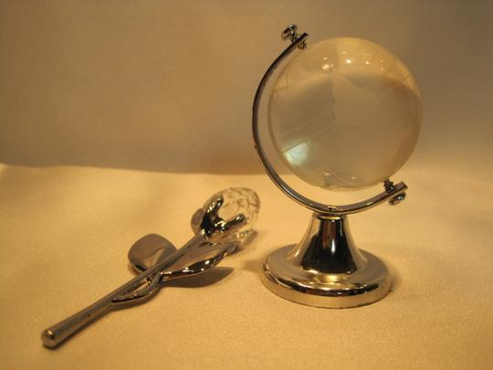 Other Paperweights; Rose & Globe of Glass - [ Roxanne Anjou Closet ]