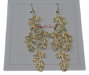 Stella & Dot Stella & Dot Grace Chandelier Earrings Gold - New in Box