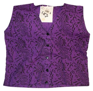 Worldwinds Sleeveless Dragons Top Purple