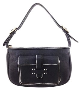 Loro Piana Leather Satchel in Black