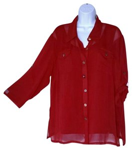 Louis Dell'Olio Button Down Shirt Red