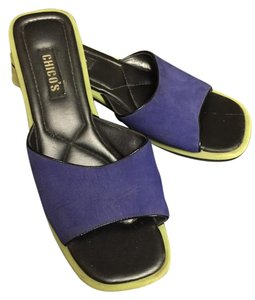 Chico's Cobalt blue/lime green Sandals