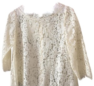 Joie Lace Sheer Lace Top CREAM