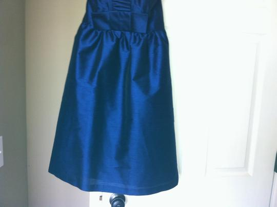 Alfred Sung Midnight Polyester D468 Formal Bridesmaid/Mob Dress Size 4 (S)