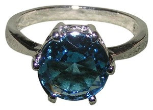 1ct Blue Topaz Right Hand Fashion Ring Free Shipping