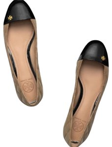 Tory Burch Clay Beige/Black Flats