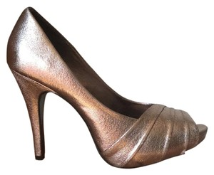 Kelly & Katie Shiny Stiletto Open Toe Platforms