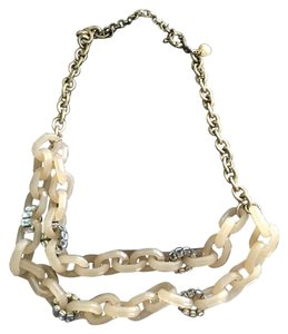 J.Crew J.Crew Gold w/Nude Acrylic Two-Chain Necklace