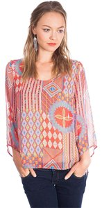 Umgee Boho Casual Sheer Tunic