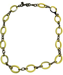 J.Crew J.Crew Long Gold w/ Yellow Acrylic Loops Necklace