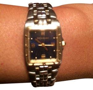 Saint Laurent Two Tone Women's Watch With Blue Face