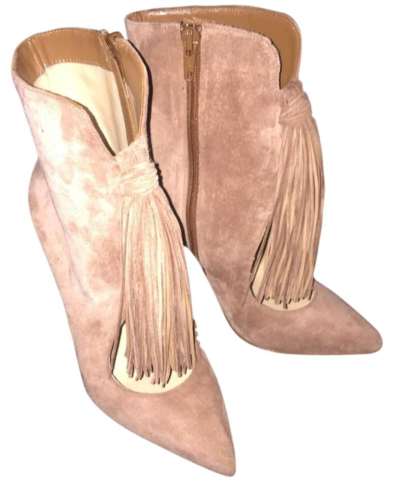 Christian Louboutin Beige Fringed Fringed Beige Suede Boots/Booties 57af5d