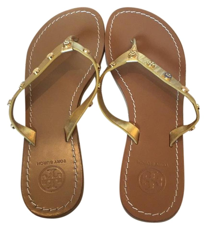 Tory Burch Gold Ricki Ricki Gold Thong Sandals 3ad192