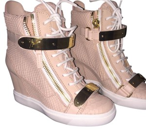Giuseppe Zanotti Pink and gold Athletic