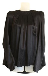 Thomas Wylde Evening Silk Silk Top Black
