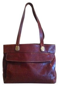 Marino Orlandi Italian Leather Bag Vintage Tote Shoulder Bag