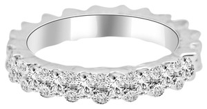 Avi and Co 1.20 cttw Round Brilliant Cut Diamond Designer Eternity Band 18K White Gold