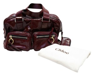 Chloé Betty Patent Leather Grenat Satchel in Bordeaux