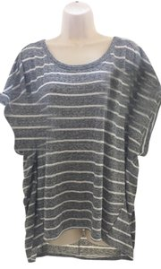 Old Navy Stretchy Plus-size Casual Striped T Shirt black, white