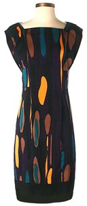 Diane von Furstenberg Silk Print Shift Sheath Dress