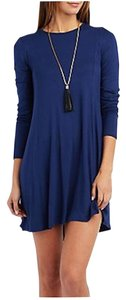 Charlotte Russe short dress Estate blue Long Sleeve Stretchy on Tradesy