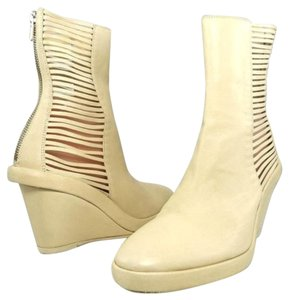 Ann Demeulemeester Wedge Platform Pump Leather Beige Boots