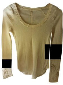 Free People Thermal Lace Lace Trim Sweater