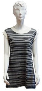 Chanel short dress Gray Striped Rugby Mini Cap Sleeve Designer on Tradesy