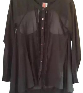 Free People Button Down Shirt Charcoal